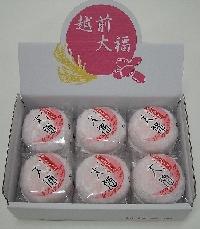ジャンボ大福餅(紅もち・こしあん)12個入り