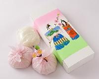 桃の節句餅3個入り(白もち1個・つぶあん/紅もち2個・こしあん)
